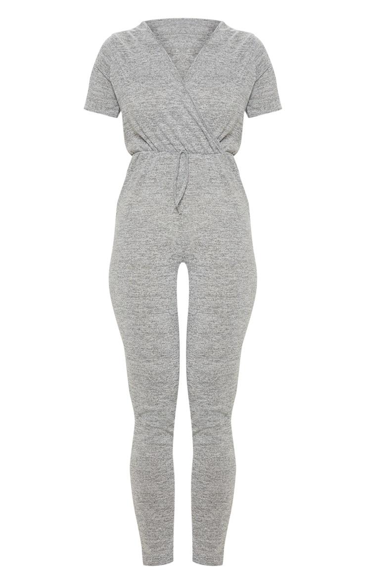 Combinaison gris en tricot 3