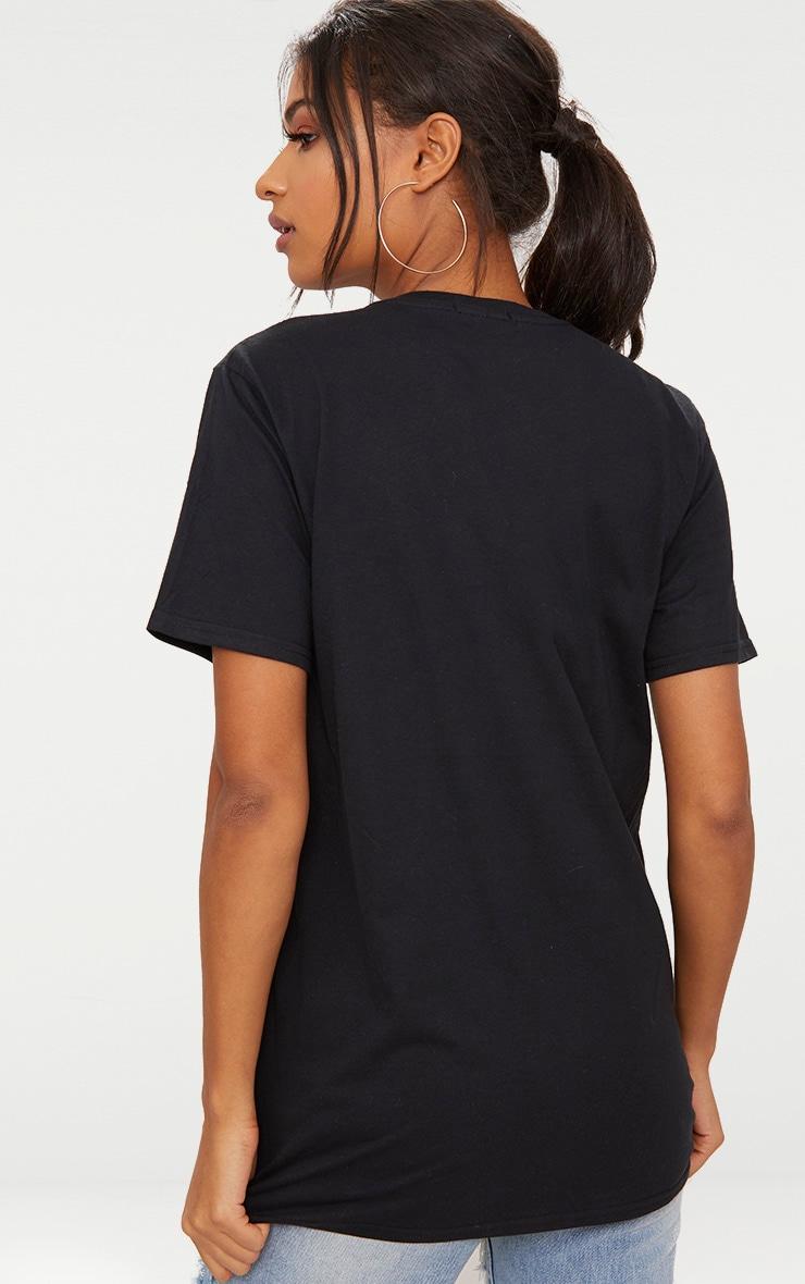 Black Tres Chic Slogan Oversized T Shirt 2