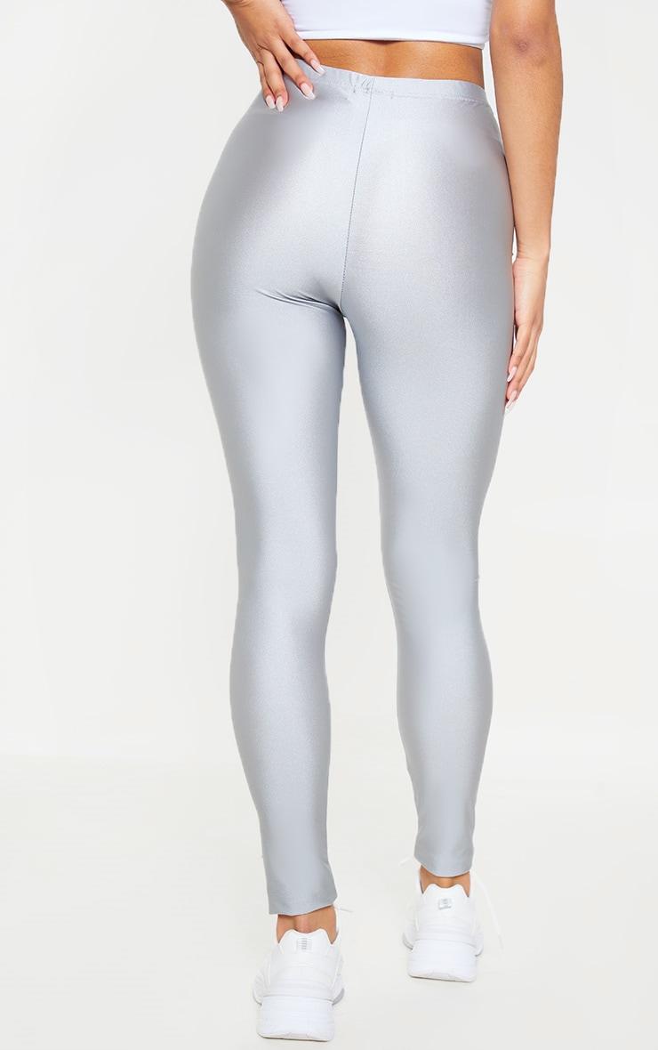 Silver Grey Front Seam Disco Legging 4