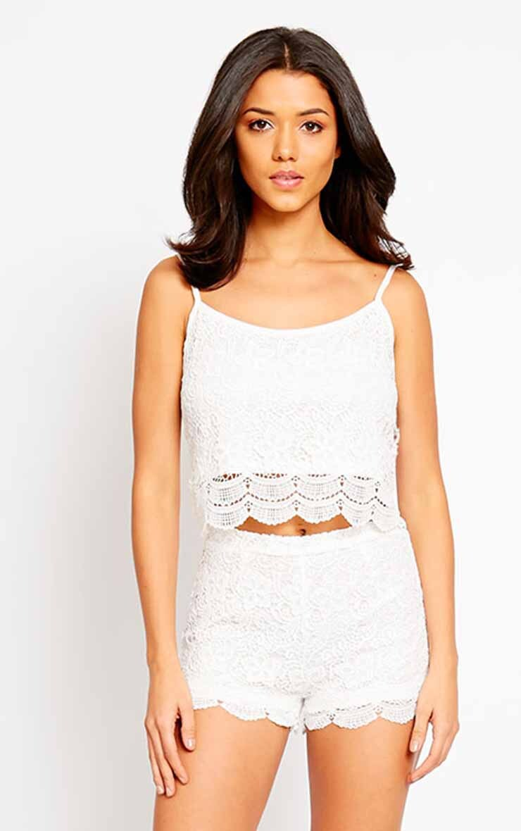 Nella Cream Lace Shorts 6