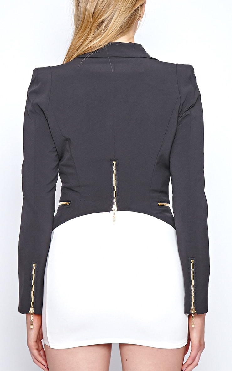 Calista Black Zip Detail Blazer 2