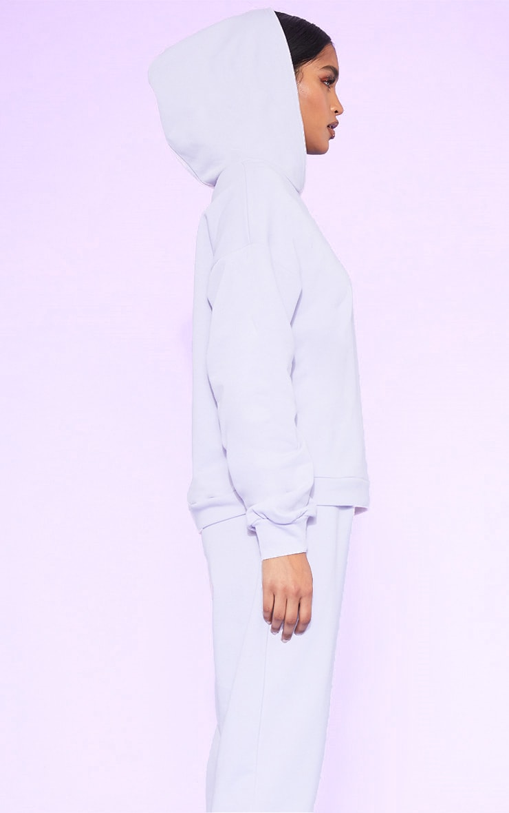 RECYCLED Pale Violet Oversized Hoodie 2