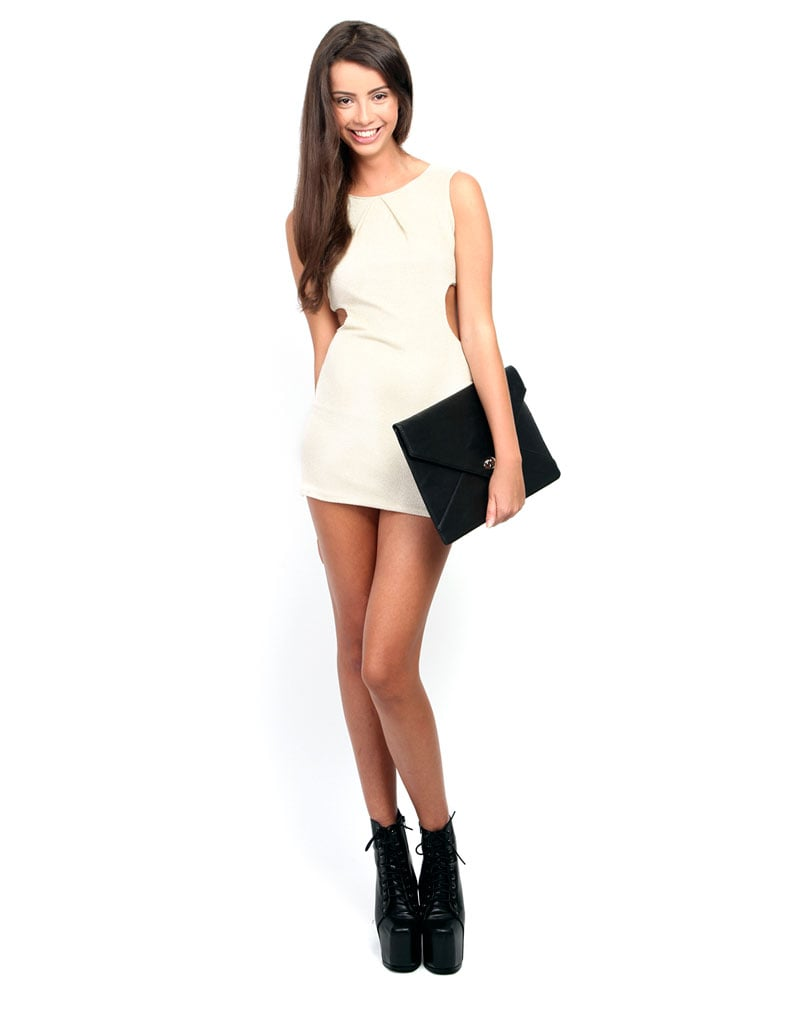 Sylvia Cream Cut Out Dress 3