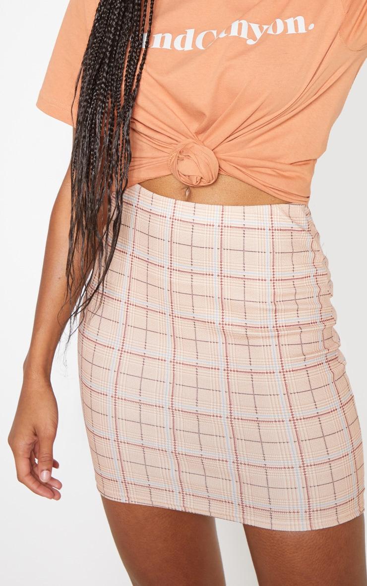 Stone Check Mini Skirt 6