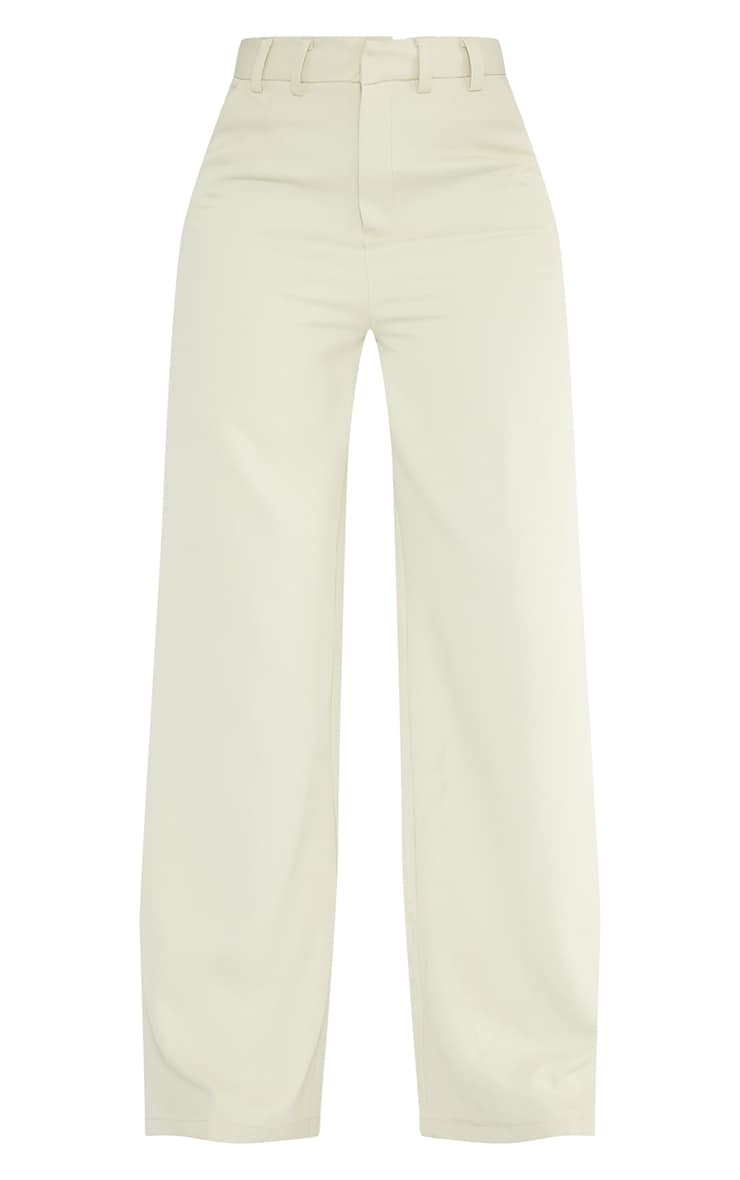 Tall Sage Green Wide Leg Dad Pants 5