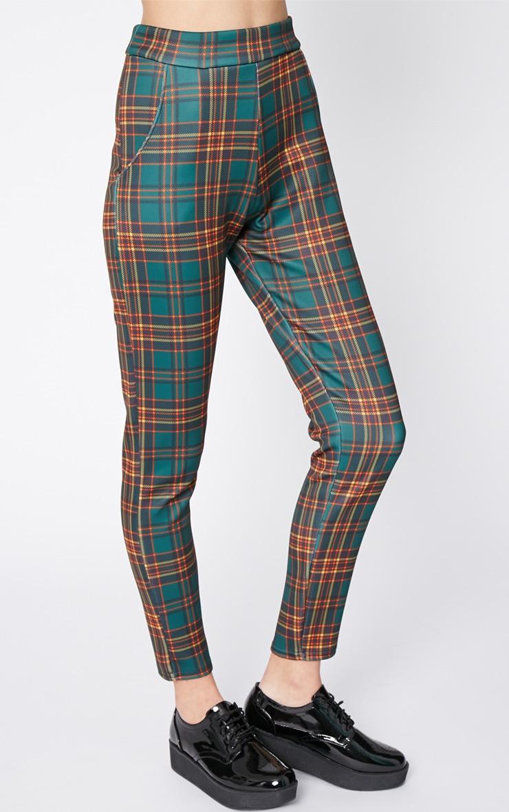 Maia Green Tartan Trouser 3