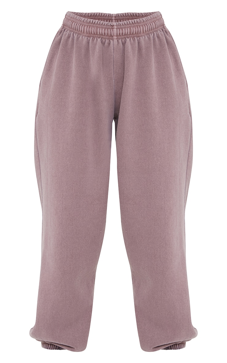 Mauve Washed Casual Joggers 5