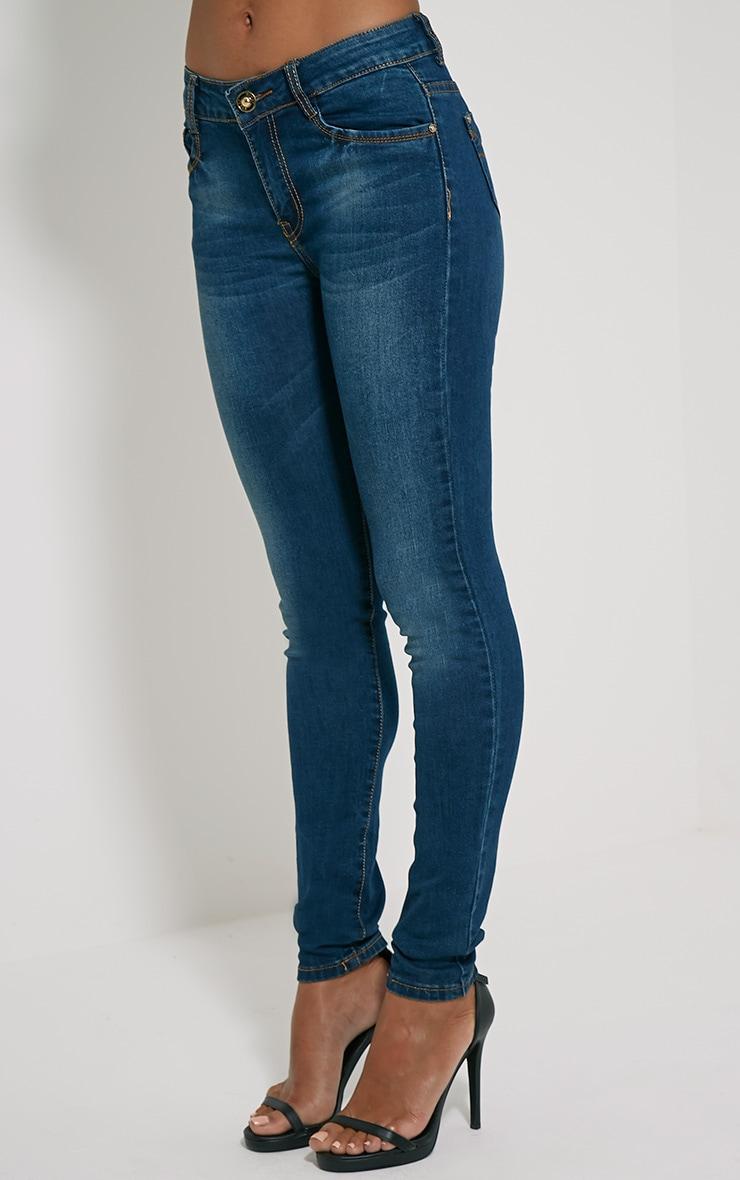 Teegan Dark Blue Wash Skinny Jean 3