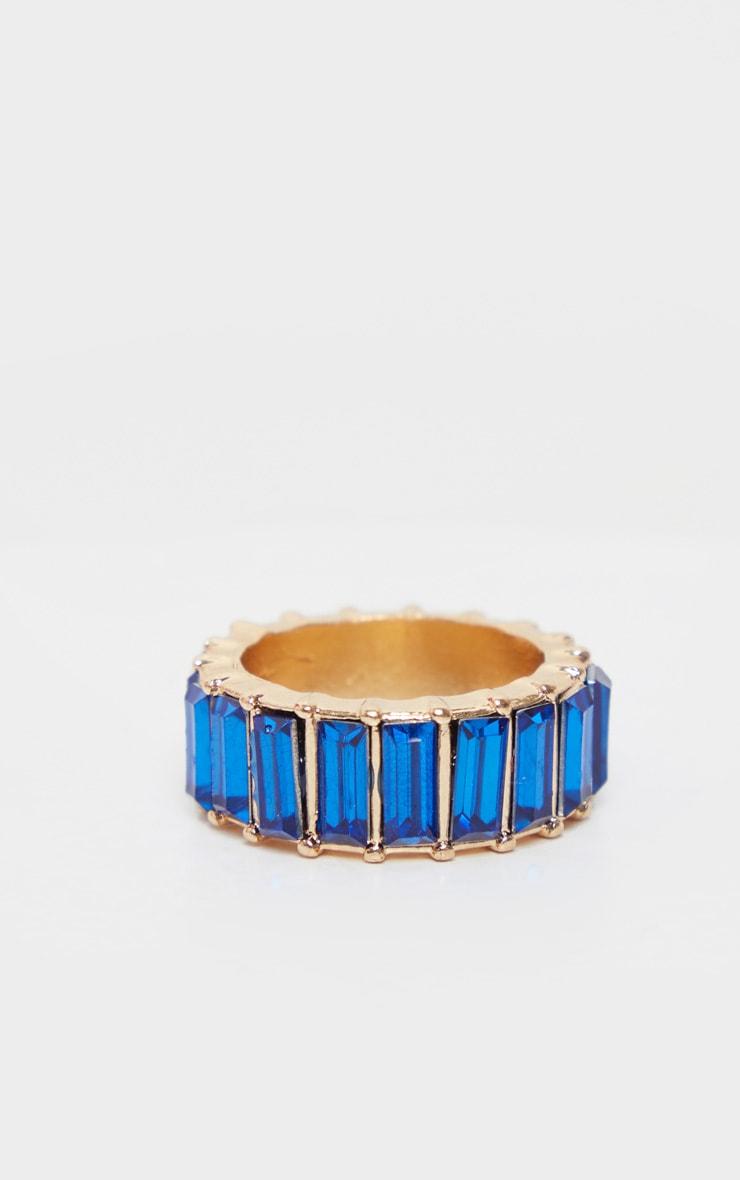 Royal Blue Eternity Band Ring 1