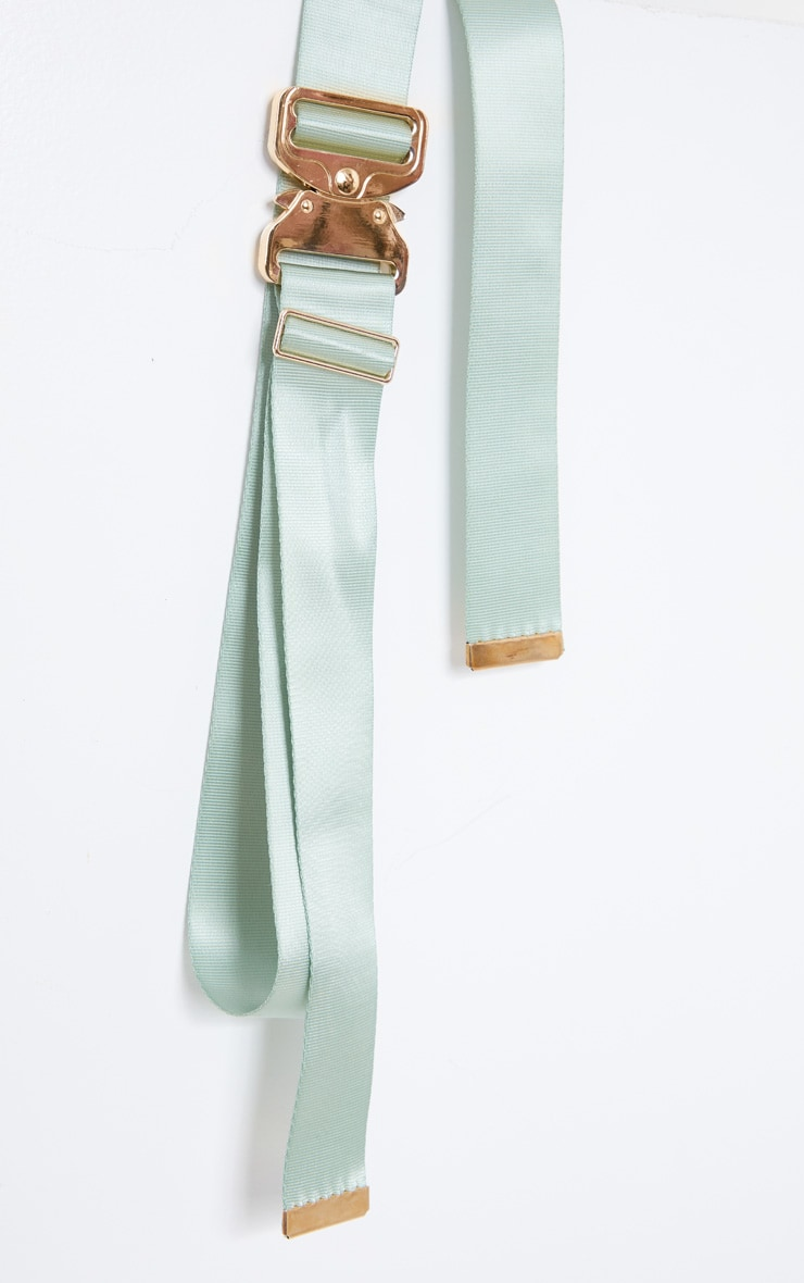 Sage Green Double Ribbon Tape Belt 3