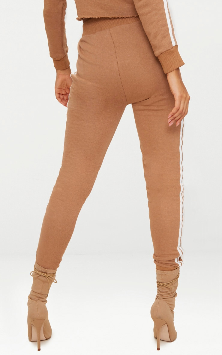 Taupe Side Stripe Joggers 4