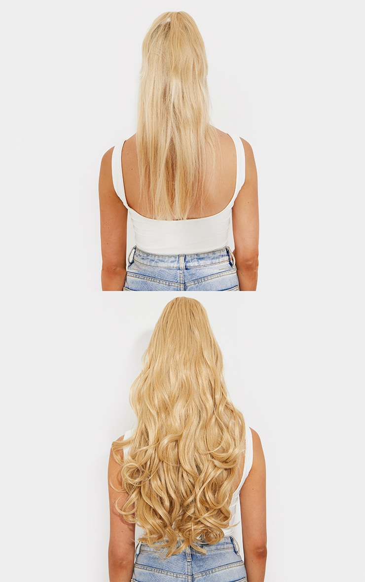 Lullabellz Ultimate Half Up Half Down 22 Curly Extension and Pony Set Golden Blonde 4