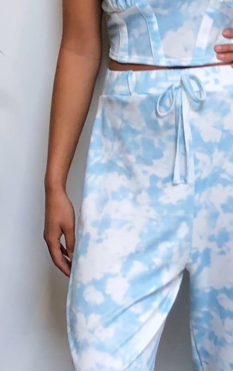Blue Tie Dye High Waist Cuffed Joggers 4