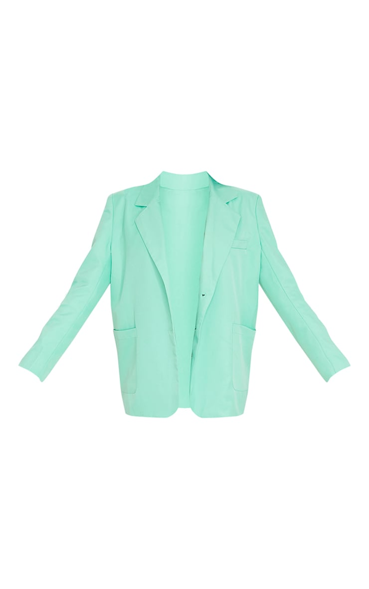 Tall Green Oversized Suit Blazer 5