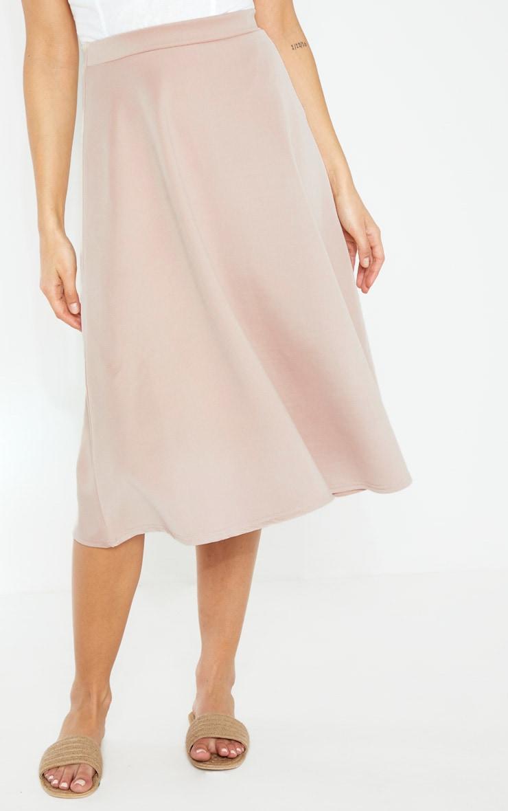 Stone Scuba Flippy A Line Midi Skirt  2