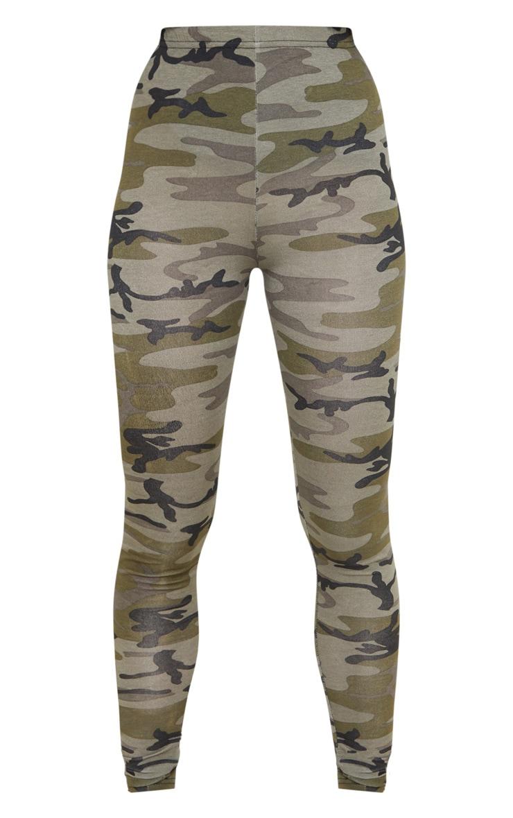 Legging kaki imprimé camouflage 3