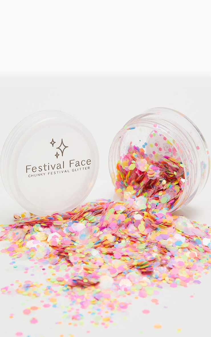 Festival Face Neon Lights Glitter  1