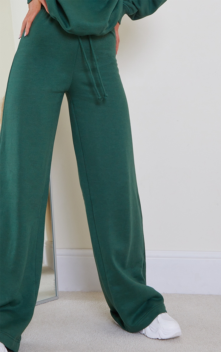 Forest Green Wide Leg Joggers 4