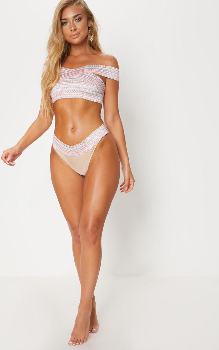 Gold Multi Bandage Bikini Bottom 5