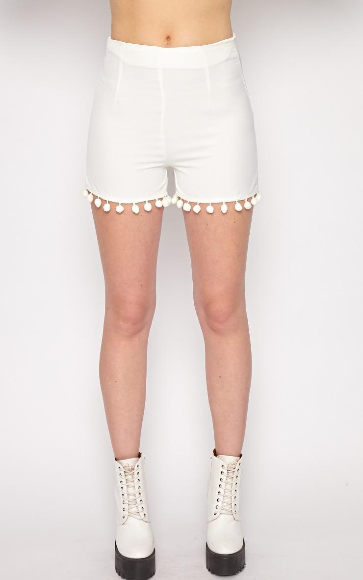 Sierra White Pom Pom Short  3