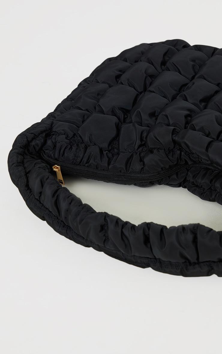 Tote bag oversize matelassé noir chunky 4