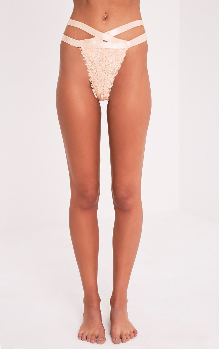 Gerrie Nude Lace Harness Thong Knicker 2