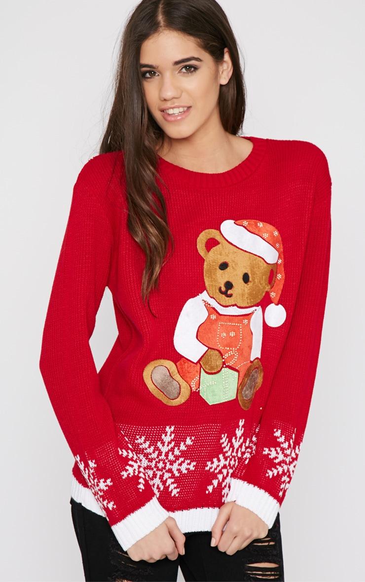 Carol Red Teddy Christmas Jumper 3