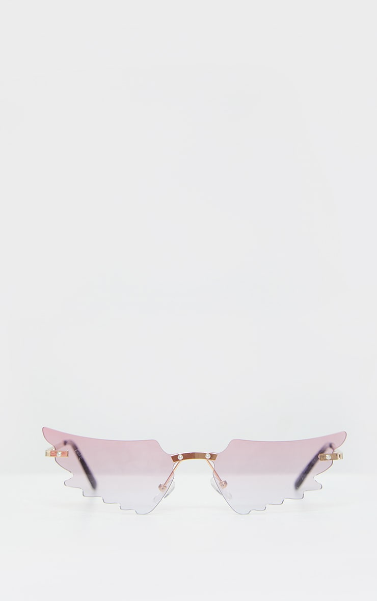 Pink Butterfly Lens Sunglasses 2