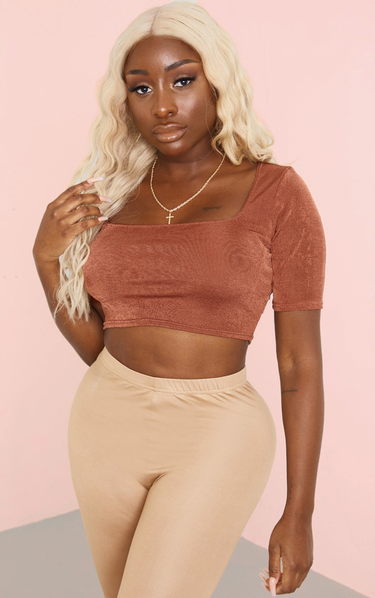 Rust Square Neck Crop Top 1