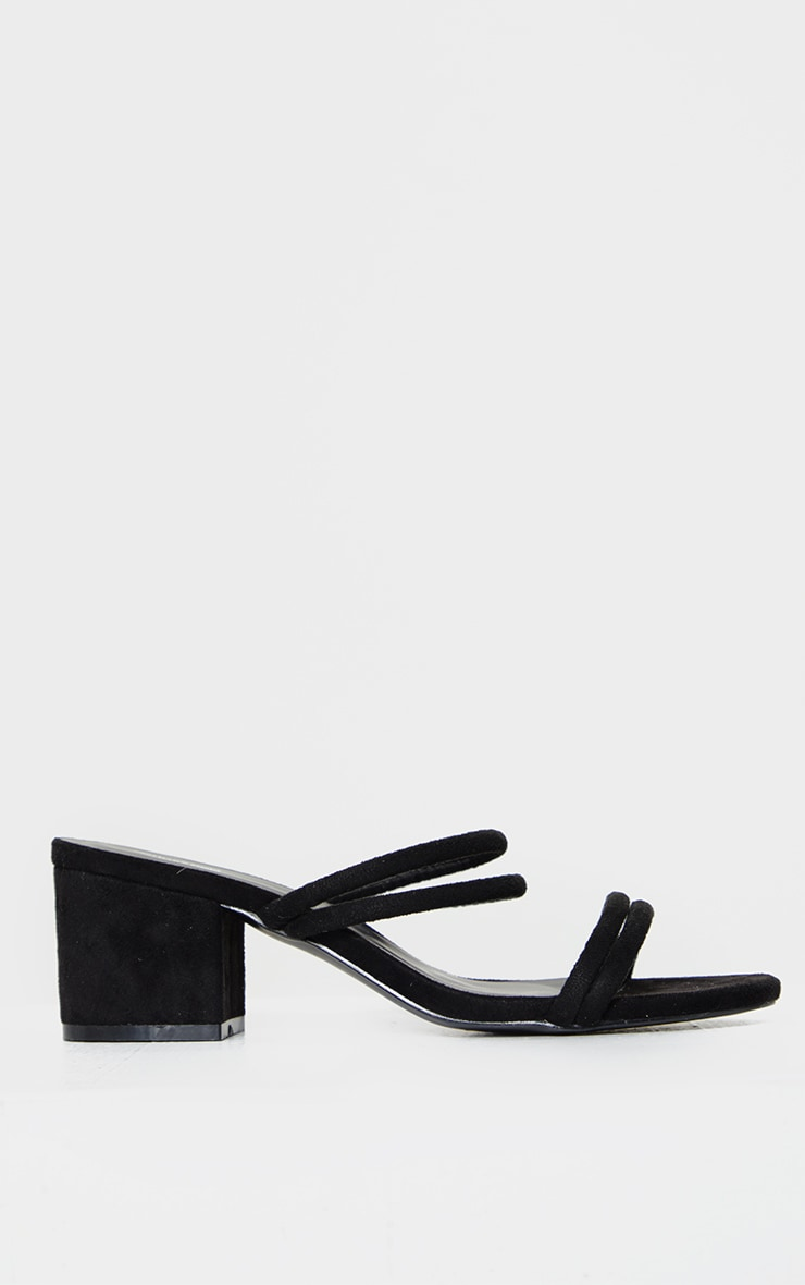 Black Double Tube Strap Mules 3