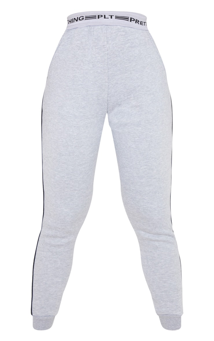 PRETTYLITTLETHING Grey Contrast Piping Cuff Joggers 3
