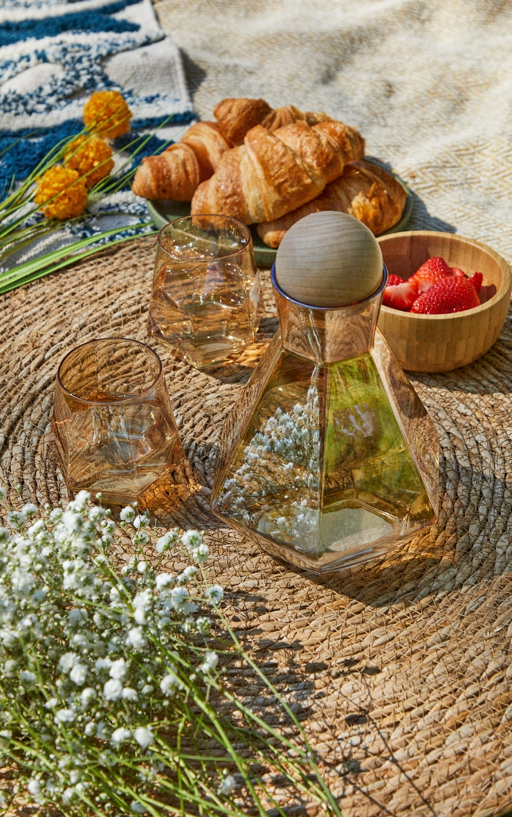 Amber Diamond Glass Drink Set 1