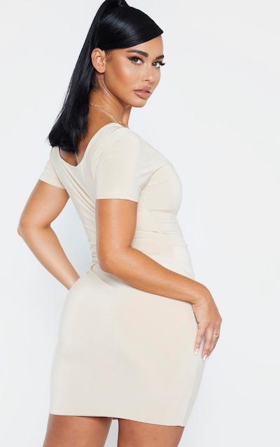 Shape Stone Slinky Panelled Bodycon Dress