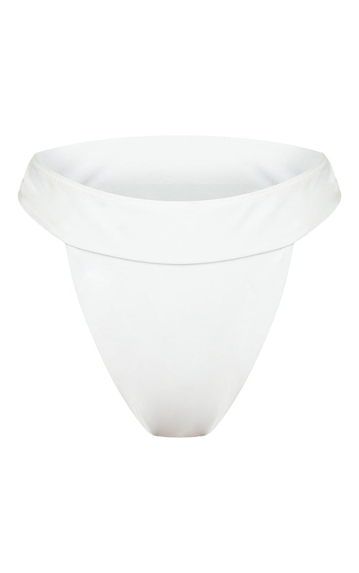 PLT Recycle - Bas de maillot de bain Mix & Match échancré blanc 5