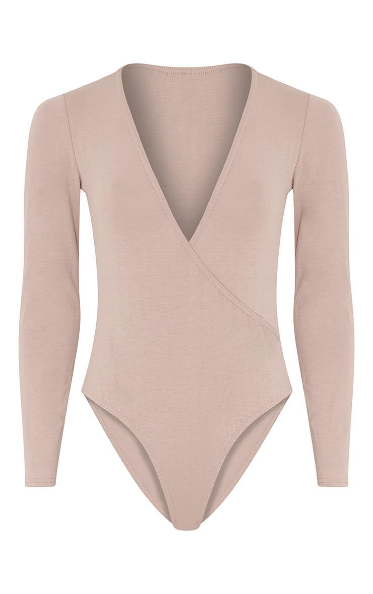 Freida Stone Jersey Thong Cross Front Bodysuit 3