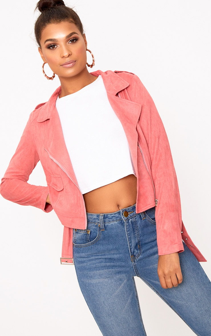 Niki Rose Faux Suede Biker Jacket 1