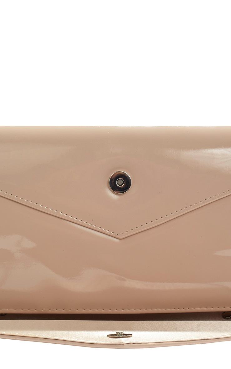 Ashanti Nude Patent Clutch Bag 6