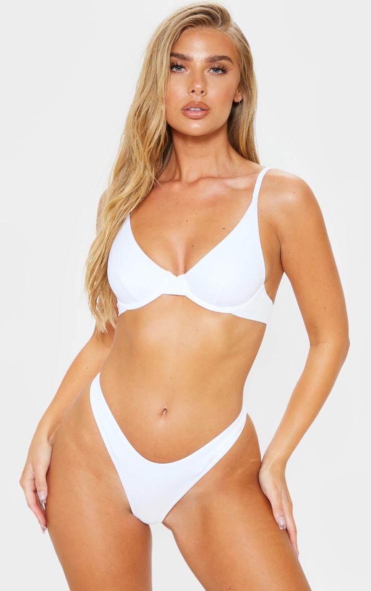 White Mix & Match Underwired Bikini Top 1