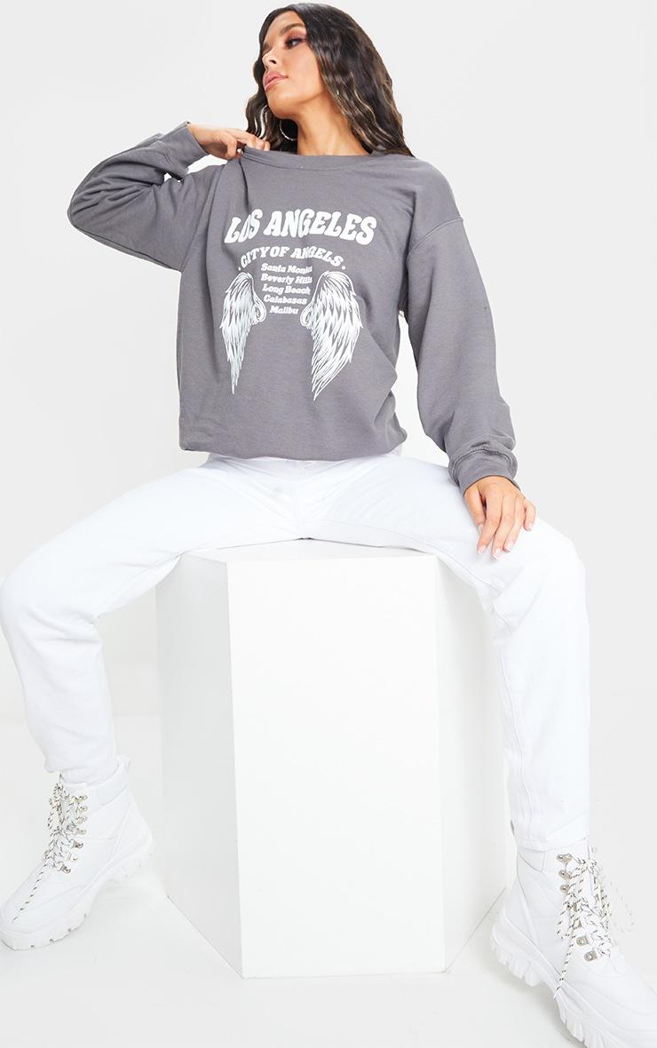 Grey Los Angeles Wing Printed Sweatshirt 3
