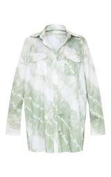 Khaki Tie Dye Oversized Shirt 5