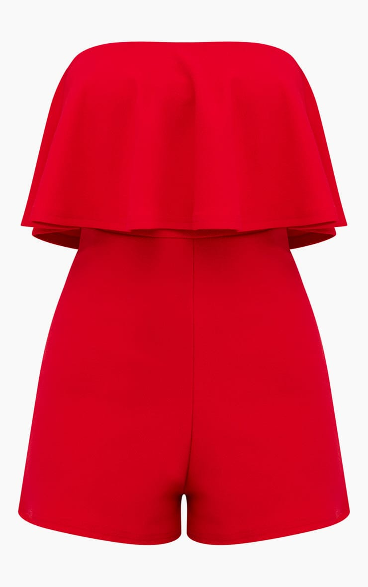 Red Double Layer Playsuit 3