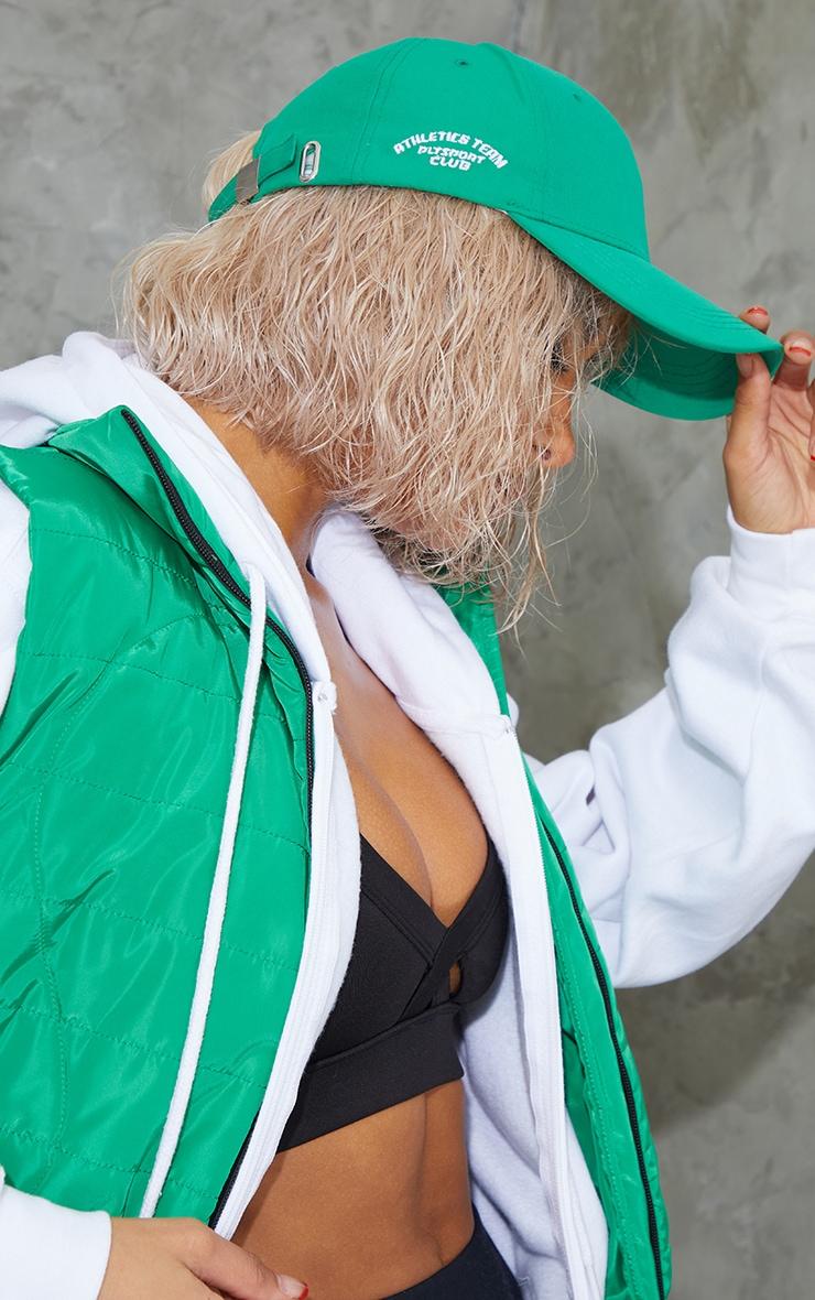 PRETTYLITTLETHING Green Sports Cap 1