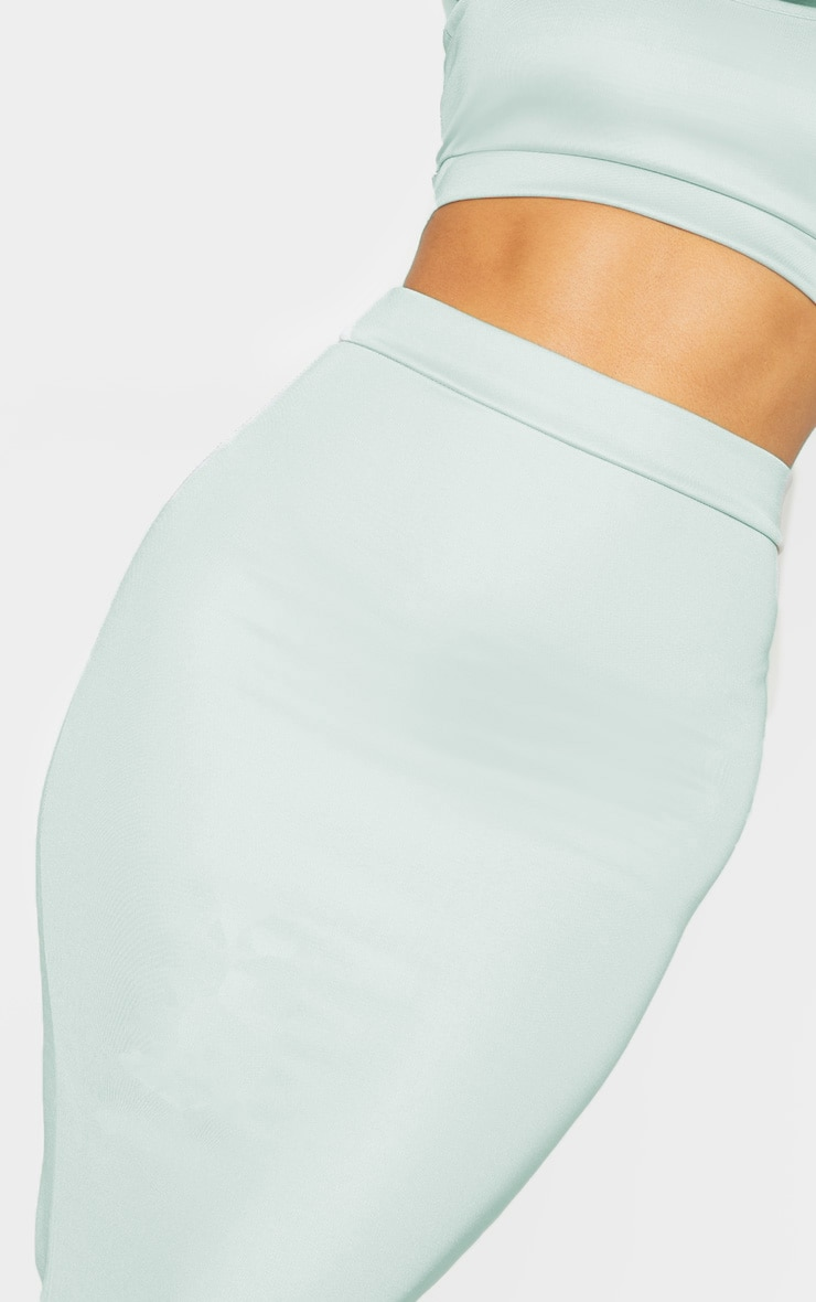 Light Grey High Stretch Maxi Skirt 5
