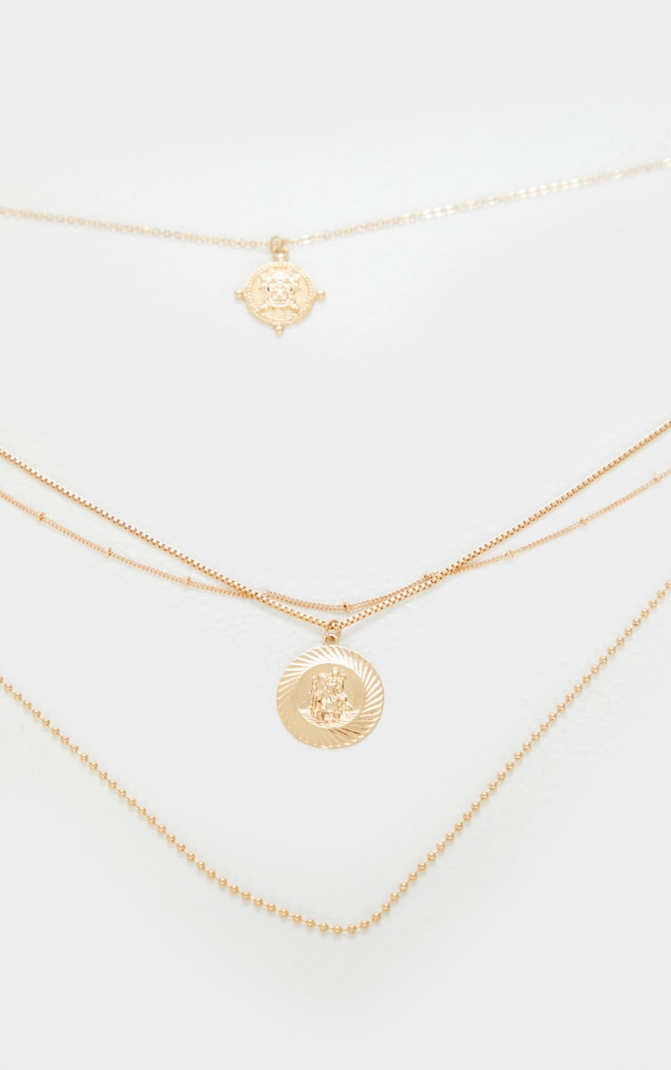 Gold Multi Layer Assorted Necklace 5