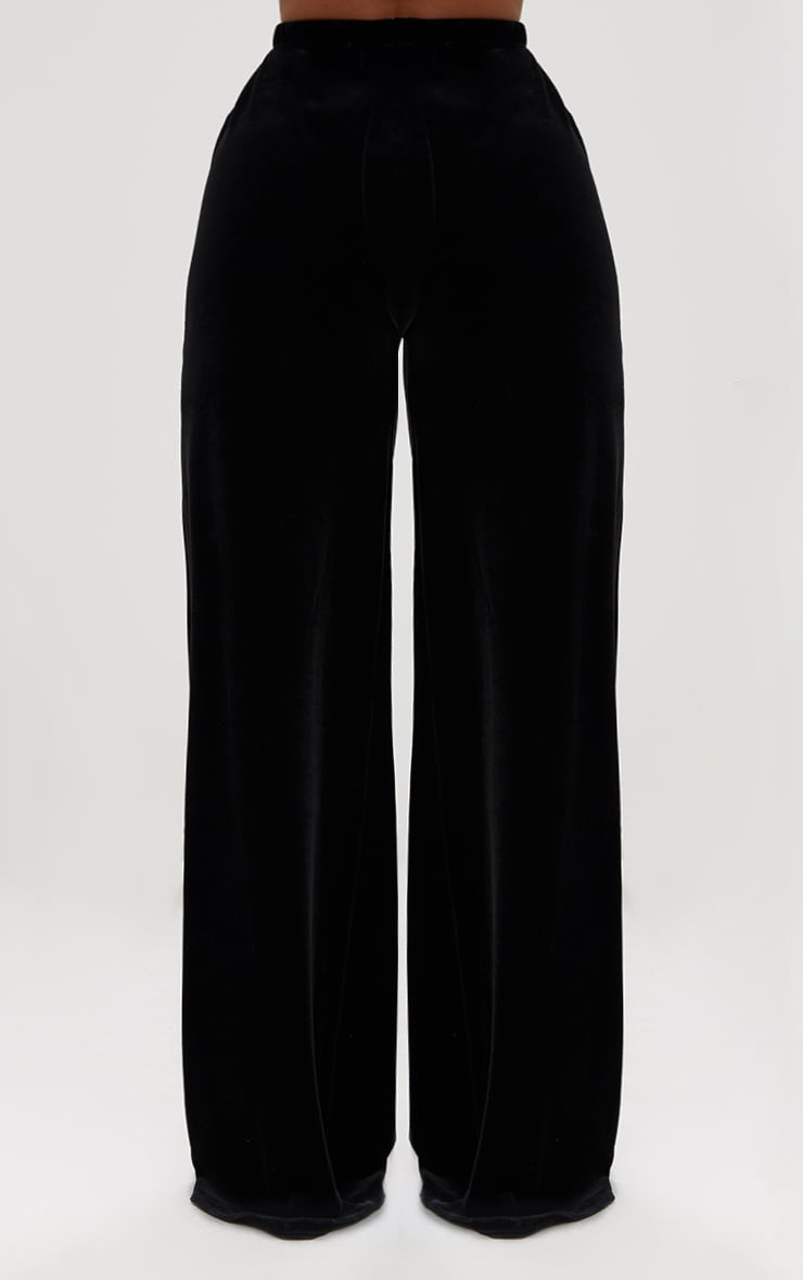 Shape Black Velvet Wide Leg Pants 4