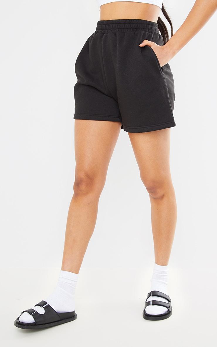 PRETTYLITTLETHING Black Badge Bum Pocket Runner Shorts 2