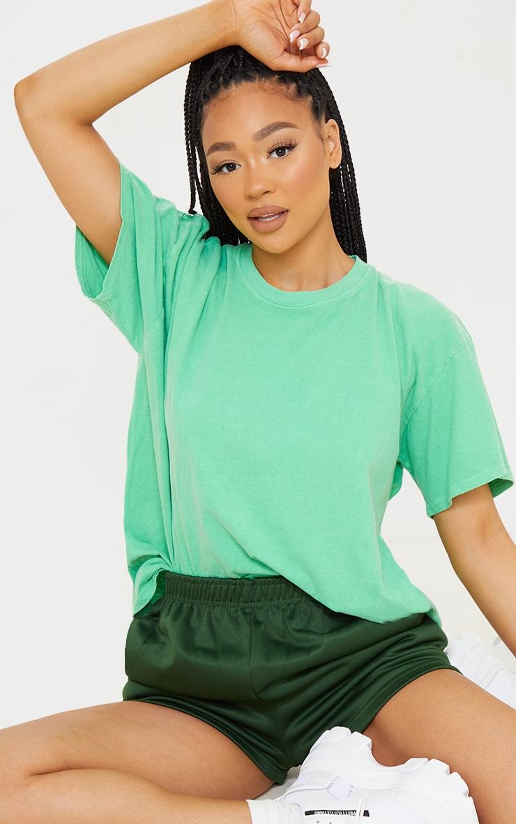 Green Washed Oversized T Shirt