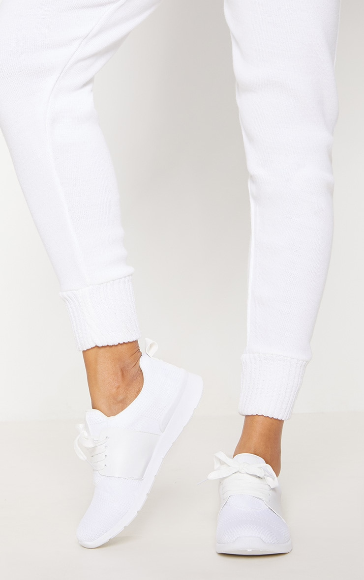 White Knitted Sneakers 1