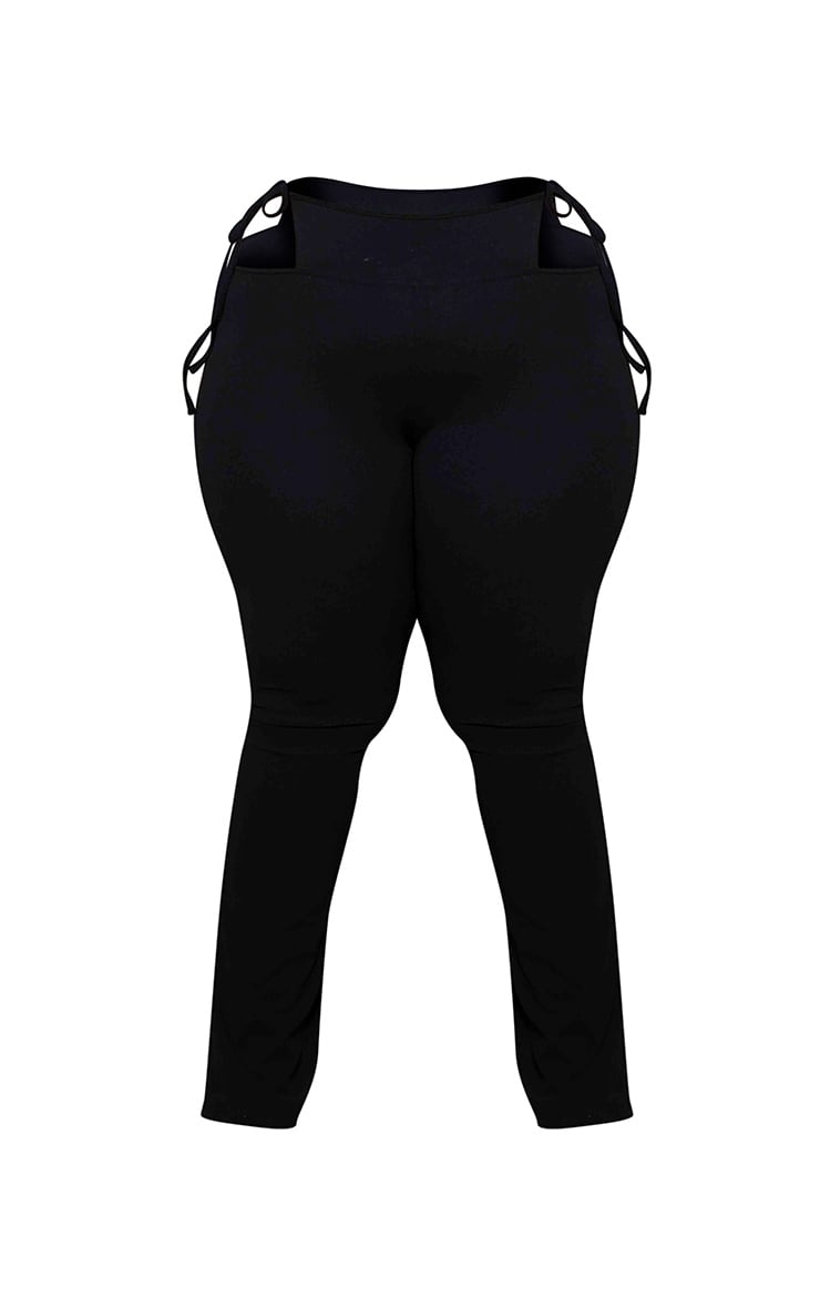 Plus Black G String Flared Pants 4
