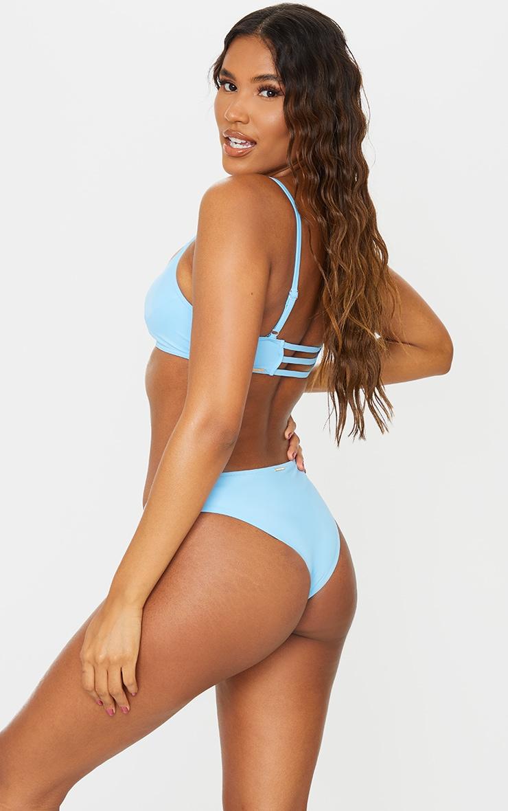 Recycled Blue Mix & Match Scoop Neck Bikini Top 2
